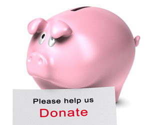 piggy bank for charity