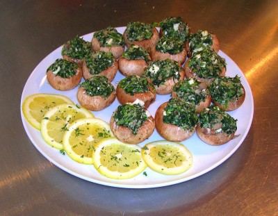 diabetic spinach stuffed mushrooms